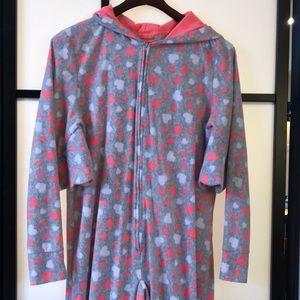 Justice Girls One Piece Pajamas Size 20